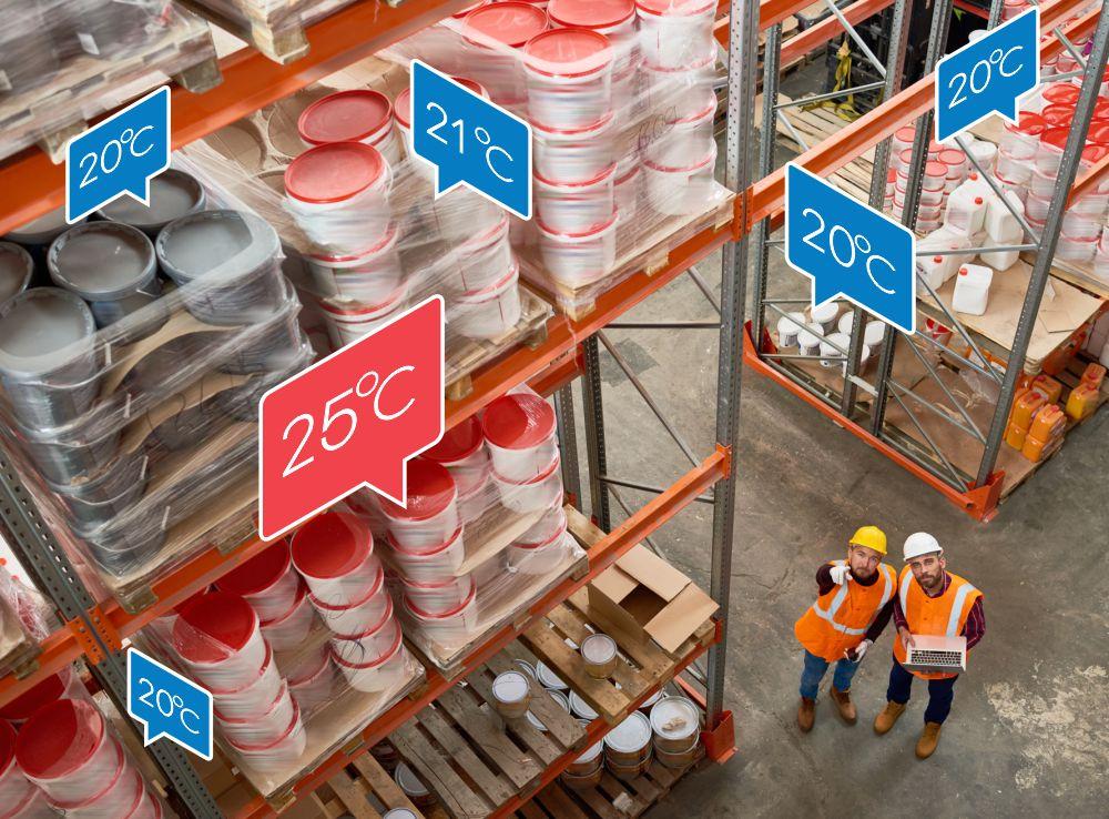 Merjenje temperature v skladiščih
