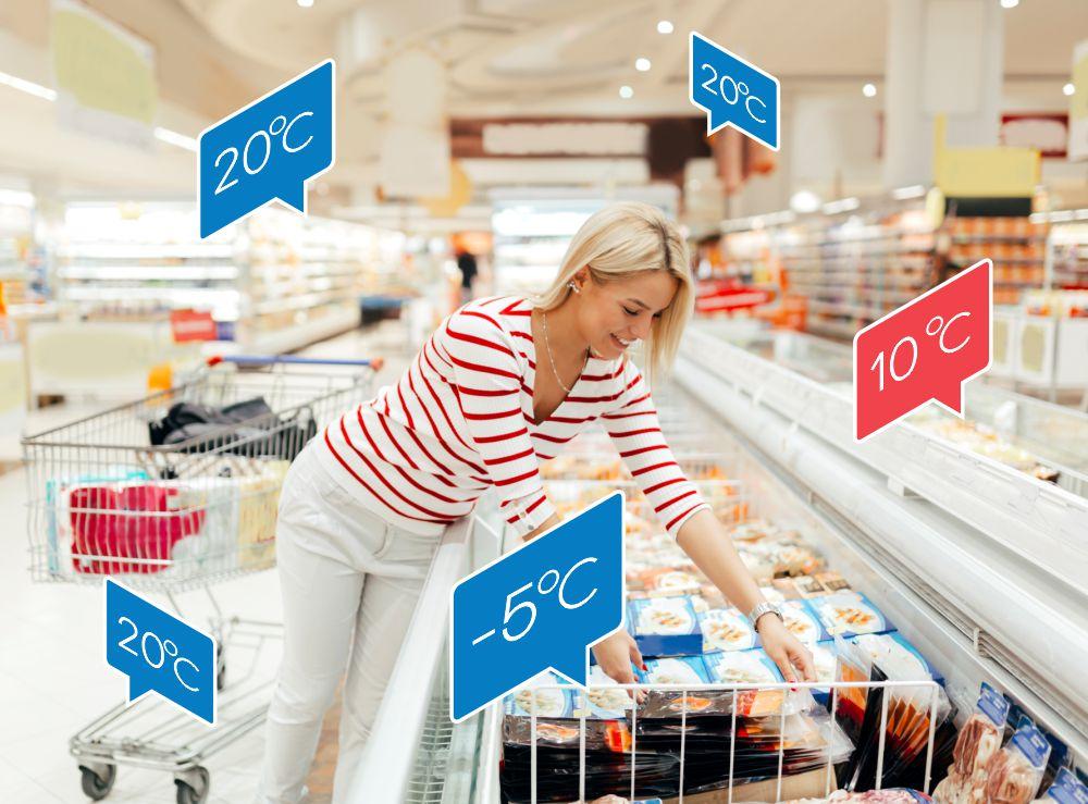 Merjenje temperature v trgovinah