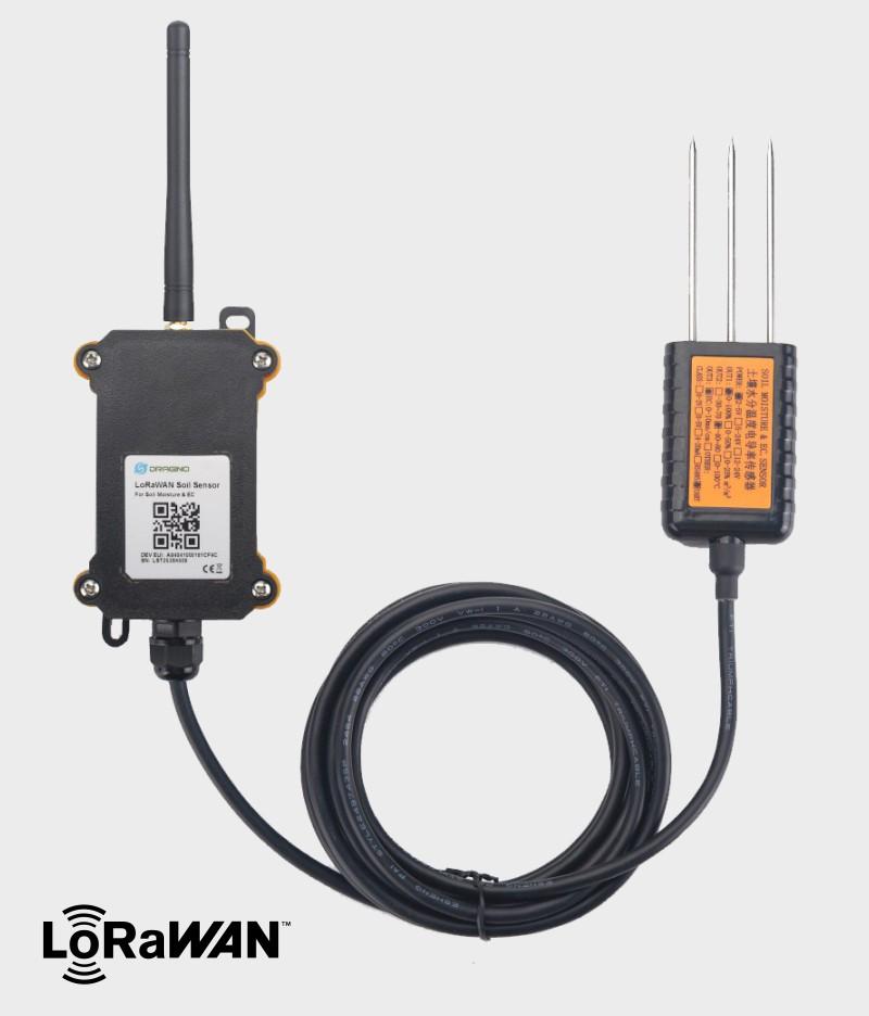 Dragino LSE01 LoRaWAN senzor za zaznavanje vlažnosti in prevodnosti prsti