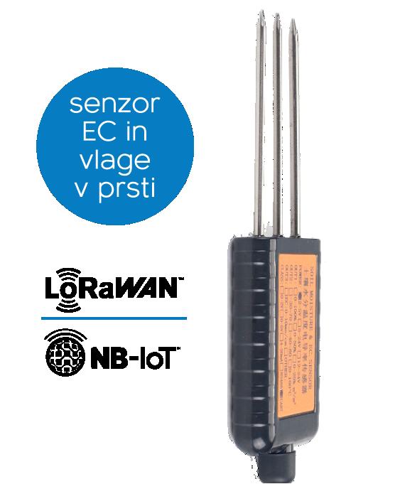 Dragino - LoRaWAN - NB-IoT senzor vlage in prevodnosti prsti