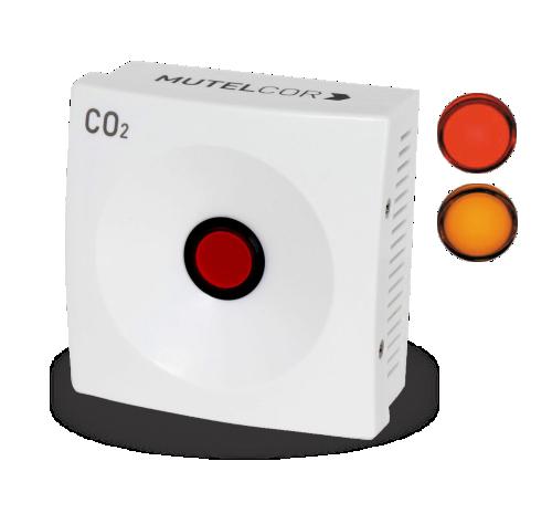 Mutelcor Smart CO2 napredni LoRaWAN CO2 senzor z vgrajenim brenčalom